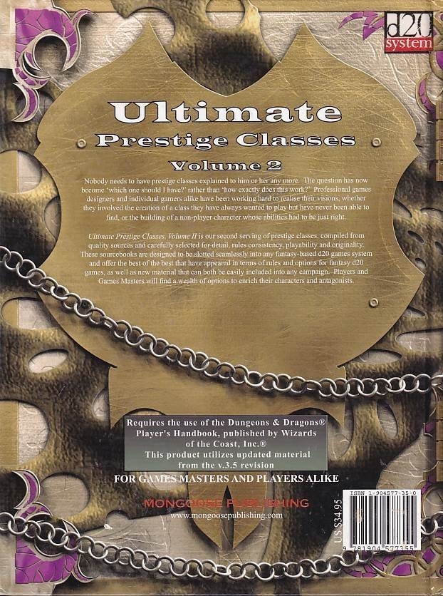 D&D 3.5 - Ultimate Prestige Classes Vol 2 (B-Grade) (Genbrug)